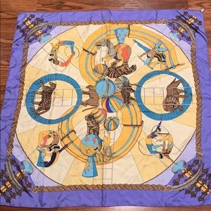 Hermès circus silk scarf